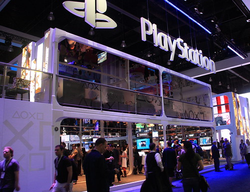 One side of Sonys Booth at E3 2009 (click).