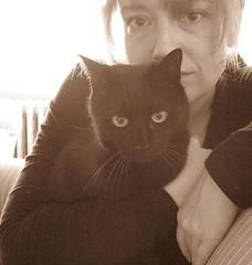 Cat eyes (Woodswoman33) Tags: selfportrait susan jinx