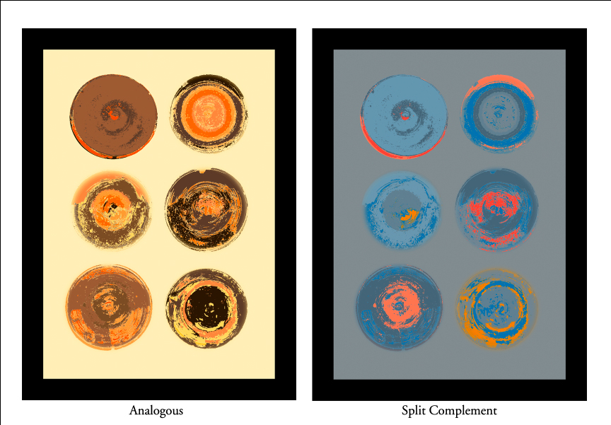 Analagous and Split Complement Color Schemes