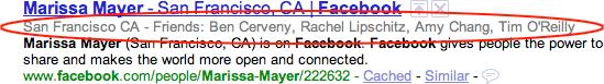 google facebook snippet