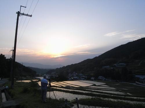 棚田の夕陽@明日香村-08