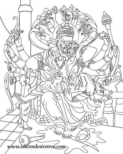 lord vishnu coloring pages - photo#5