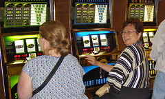 Aunt Luz at the Slots Tournament