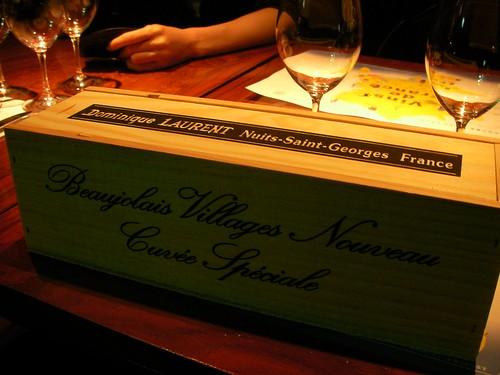 ドミニク・ローランのボジョレー・ヴィラージュ・ヌーヴォーの木箱