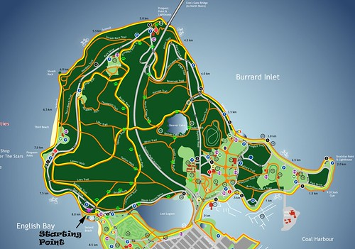 A slice of the Stanley Park Map