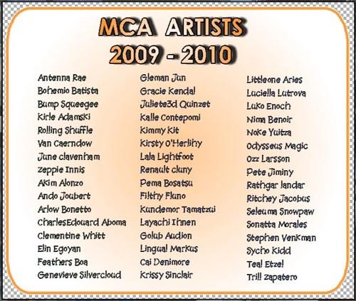 mca artists