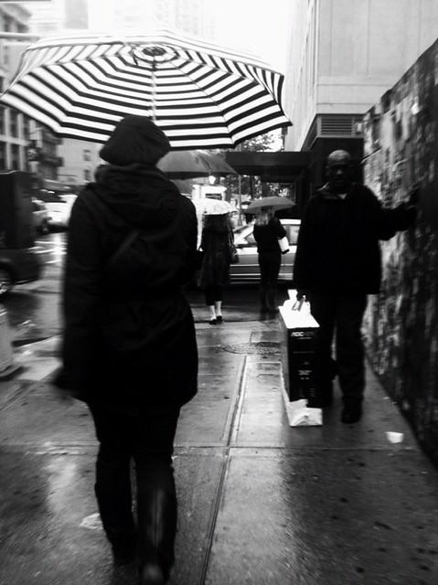 umbrella in the drizzle #walkingtoworktoday