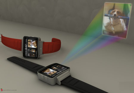 iWatch with projector, watch with projector