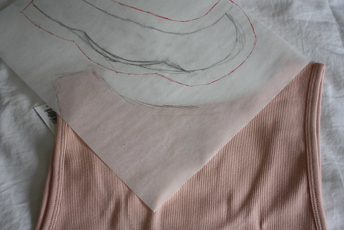 Step 4: Trace the Back Neckline of Tank Top