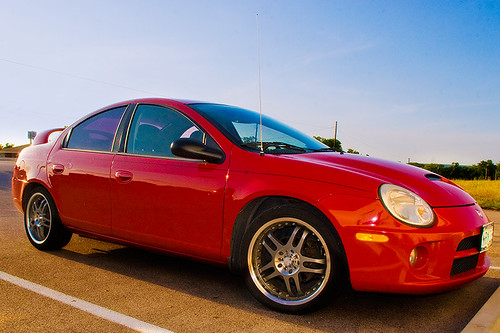 red 2005 dodge neon SXT with SRT styling
