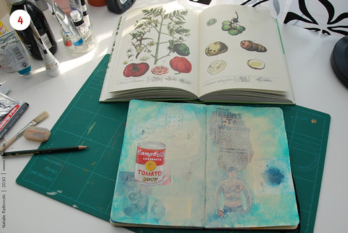 Step 4: Paint tomato soup