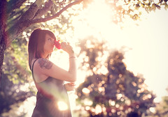 Alex Rutherford (Spanier Photography) Tags: park ohio sun cute girl rose tattoo canon bench women glare cincinnati flash sigma hyde 1020 ault 430ex 50d