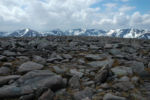 Cairn Toul & Braeriach from Ben Macdui