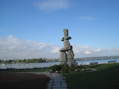 Inukshuk sculpture Vancouver, BC