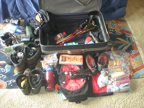 Suitcase Contents for Scotland Trip