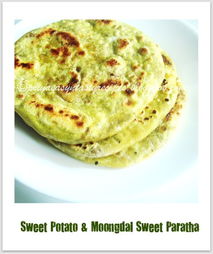 Sweet potato & whole moongdal paratha