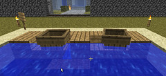 how to build a wooden boat in minecraft
