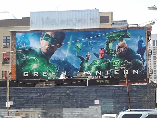 Green Lantern movie billboard in San Francisco