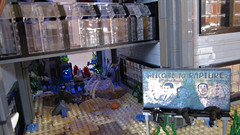 Welcome to Rapture Wide (Imagine) Tags: tower architecture airplane toys lego billboard artdeco rapture littlesister bigdaddy moc watercity bioshock lifelites imaginerigney brickworld2011