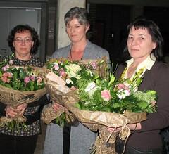 25 jaar dienst: Linda Van de Weyer, Monique Verachten en Nicole Oyen