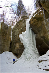 Tonty Canyon Falls in Winter