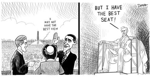 obama lincoln inaugural political cartoon