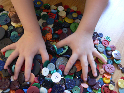 Zack Claims the Buttons by Lori Anderson Designs