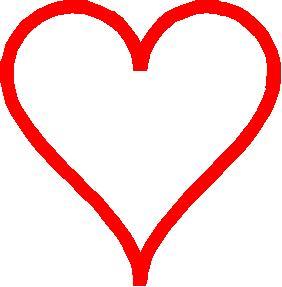 Corazón rojo en 2D