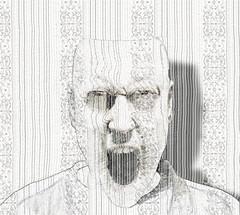 hush (vinciane.c) Tags: man photoshop digitalpainting hush graphite violencepattern