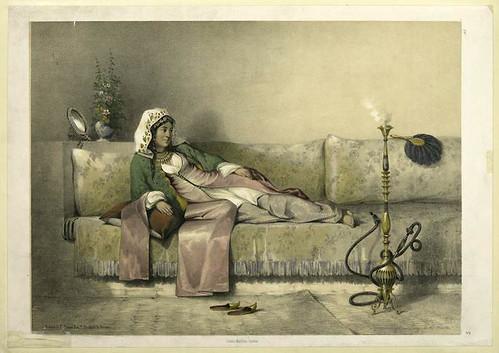 Mujer egipcia en el harem 1851
