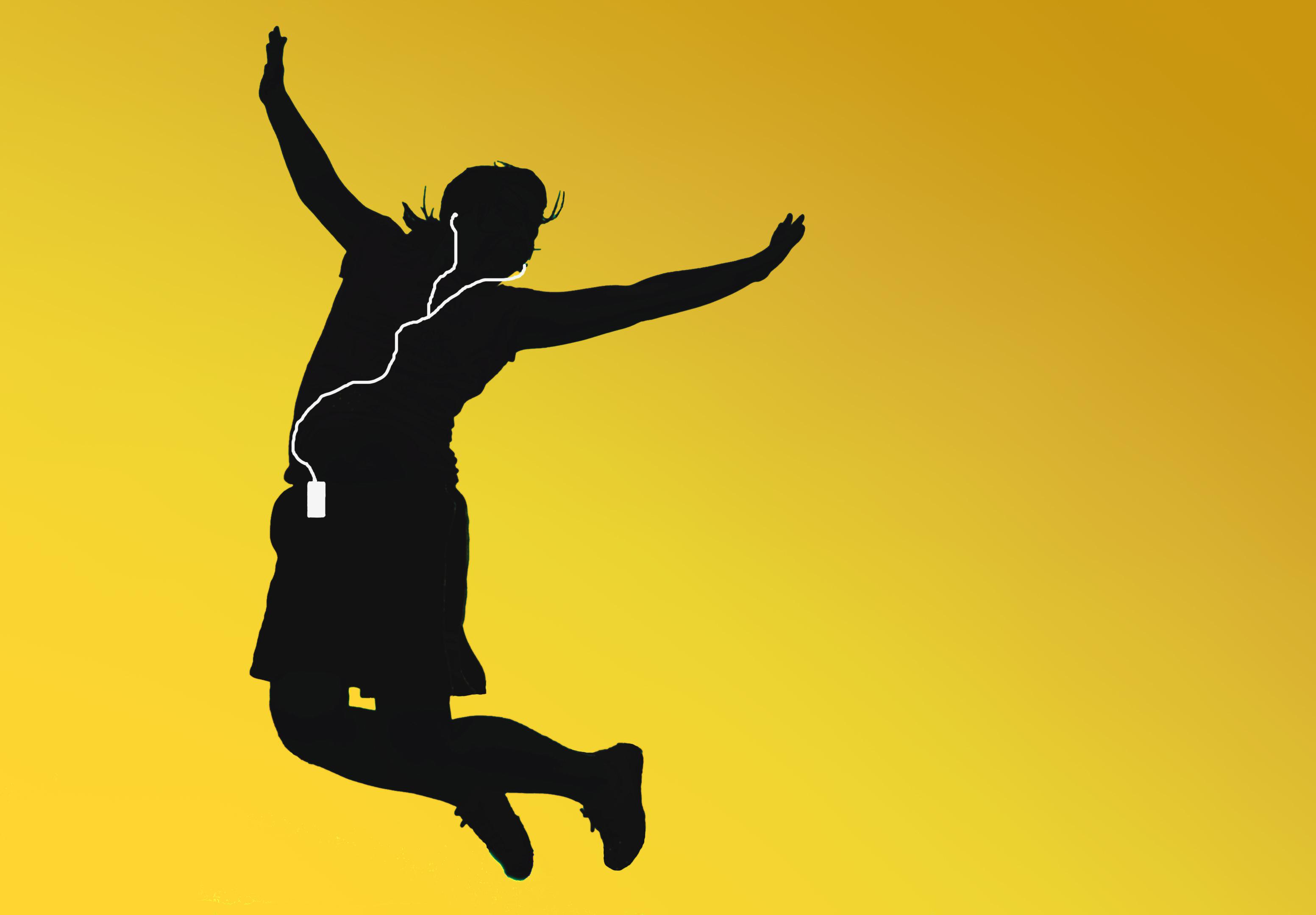 フリー写真素材|グラフィックス|イラスト|人物(イラスト)|跳ぶ