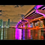 MacArthur Causeway ( Under the Purple bridge ) - Miami