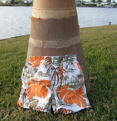 Palm Tree Trunk with Palm Tree Bathing Suit