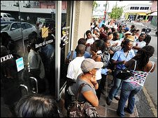 There was a run on the banks in Antigua after the reported $8billion fraud perpetuated by Stanford Bank. The global financial crisis deepens despite the fact that the imperialist states have poured trillions in public monies into the banking system. by Pan-African News Wire File Photos