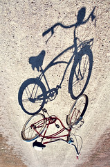 (The Vision Beautiful) Tags: shadow bike bicycle vintage upsidedown schwinn inverted corvette