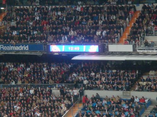 Marcador tras el gol del Madrid que ya no se movería hasta el final