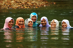 Seven Forbidden Princesses.. he he (burhan.fadzil) Tags: portrait reflection girl beautiful river nikon women nikond70 muslim islam hijab portraiture sarawak borneo nikkor malaysian blueribbonwinner kapit abigfave flickraward overtheexcellence flowersofislam memorycornerportraits landofheadhunters
