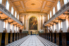 University of Greenwich Chapel, with Violin Man