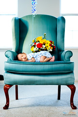 Spring Baby Boy (aliveandclickin) Tags: flowers blue boy baby cute home pose chair son diaper explore week1 newborn littleboy boquet babyboy mihir justborn itsaboy interestingess explored cutelittle
