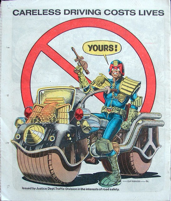 Judge Dredd and Lawmaster comic