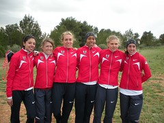 At the course in our USA warmups