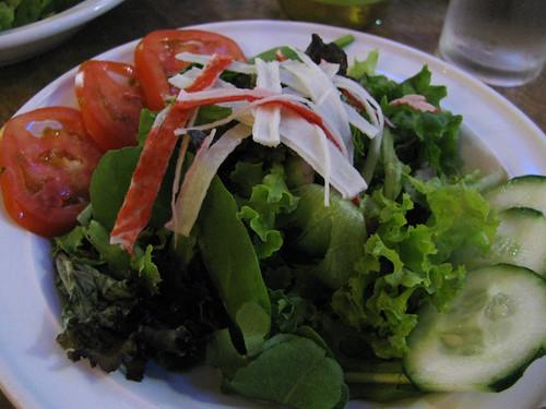 Salad at Indulgence Cafe