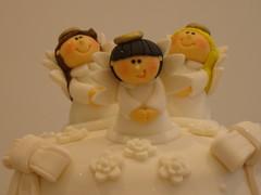 Angels cake (Stefy's Cakes) Tags: white cake baptism angels fondant sugarpaste