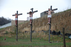 crucifiction reenactment weston wv