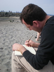 Sketching at Edmonds beach