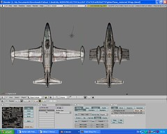 Fight Jet Model Tweaking in Blender