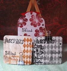 Backs of post-it note holders (Clarian's Hawk * Arlene) Tags: mayflowers cl129 cl151 2009catalog