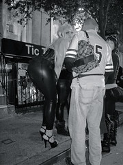 sexy street - latexcore (MyTubeNYC ( Gediminas Jankevicius )) Tags: street nyc party urban bw newyork sexy girl fashion underground fun glamour women funny noir legs sensitive style hardcore latex amateur mytubenyc gediminasjankevicius
