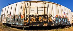 AUNR, ANGUS & ZOROE. (blood IV lube) Tags: angus kfc ora aunr freightgraffiti zoroe