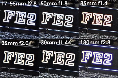 Purple Fringing & Sharpness Test: Nikkor 17-55mm f2.8 vs. Nikkor 50mm f1.8 vs. Sigma 30mm f1.4 vs Nikkor 35mm f2.0 vs. Nikkor 85mm f1.4 vs. Nikkor 180mm f2.8
